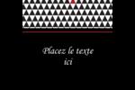 Noir et blanc Étiquettes carrées - gabarit prédéfini. <br/>Utilisez notre logiciel Avery Design & Print Online pour personnaliser facilement la conception.