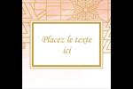 Hiver géométrique Étiquettes carrées - gabarit prédéfini. <br/>Utilisez notre logiciel Avery Design & Print Online pour personnaliser facilement la conception.