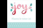 « Joy » écrit à la main Étiquettes carrées - gabarit prédéfini. <br/>Utilisez notre logiciel Avery Design & Print Online pour personnaliser facilement la conception.