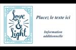 « Love and Light » écrit à la main Cartes Pour Le Bureau - gabarit prédéfini. <br/>Utilisez notre logiciel Avery Design & Print Online pour personnaliser facilement la conception.