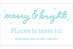 « Merry and Bright » écrit à la main Cartes Pour Le Bureau - gabarit prédéfini. <br/>Utilisez notre logiciel Avery Design & Print Online pour personnaliser facilement la conception.
