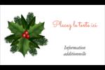 Bordure florale de Noël Cartes Pour Le Bureau - gabarit prédéfini. <br/>Utilisez notre logiciel Avery Design & Print Online pour personnaliser facilement la conception.