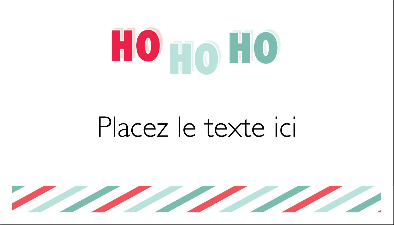 « Ho Ho Ho » Cartes Pour Le Bureau - gabarit prédéfini. <br/>Utilisez notre logiciel Avery Design & Print Online pour personnaliser facilement la conception.