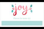 « Joy » écrit à la main Cartes Pour Le Bureau - gabarit prédéfini. <br/>Utilisez notre logiciel Avery Design & Print Online pour personnaliser facilement la conception.