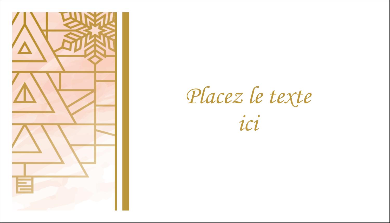 Hiver géométrique Cartes Pour Le Bureau - gabarit prédéfini. <br/>Utilisez notre logiciel Avery Design & Print Online pour personnaliser facilement la conception.