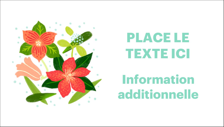 Pleine floraison  Cartes Pour Le Bureau - gabarit prédéfini. <br/>Utilisez notre logiciel Avery Design & Print Online pour personnaliser facilement la conception.