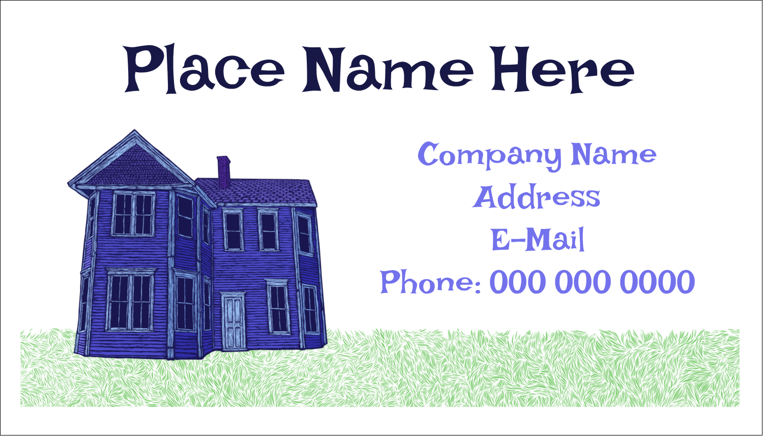 "2"" x 3½"" Business Card - Halloween Haunted House Chalk"