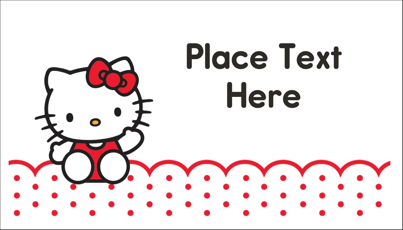 "2"" x 3½"" Business Card - Hello Kitty Waving"