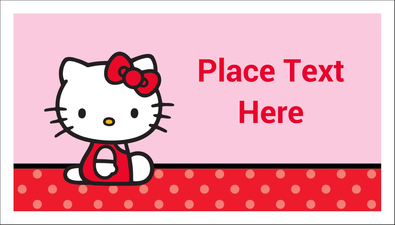 """2"""" x 3½"""" Business Card - Supercute Hello Kitty"""