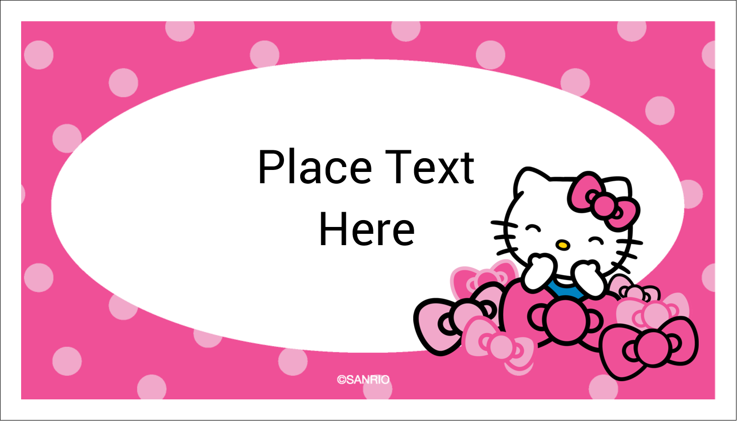 "2"" x 3½"" Business Card - Hello Kitty Giggles"