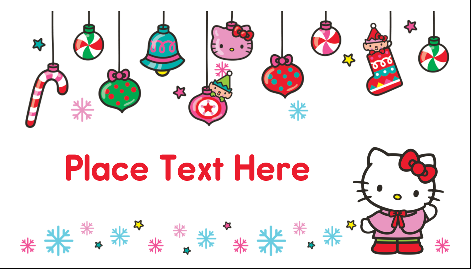 "2"" x 3½"" Business Card - Hello Kitty Holiday"