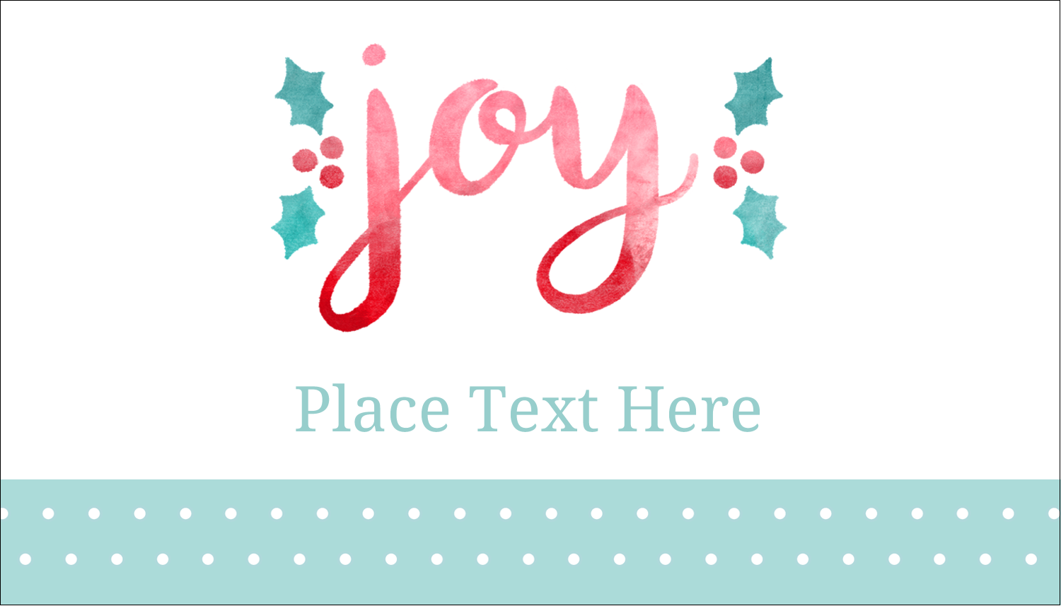 """Bring """"hollyday"""" cheer to custom projects with pre-designed Handwritten Joy templates."""