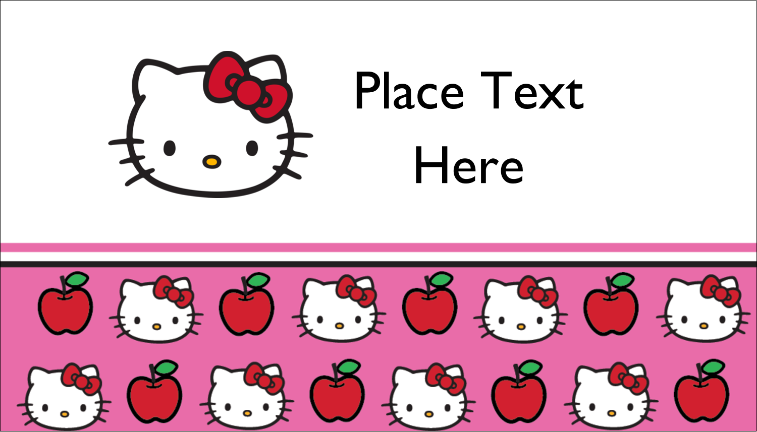 """2"""" x 3½"""" Business Card - Hello Kitty Loves Apples!"""