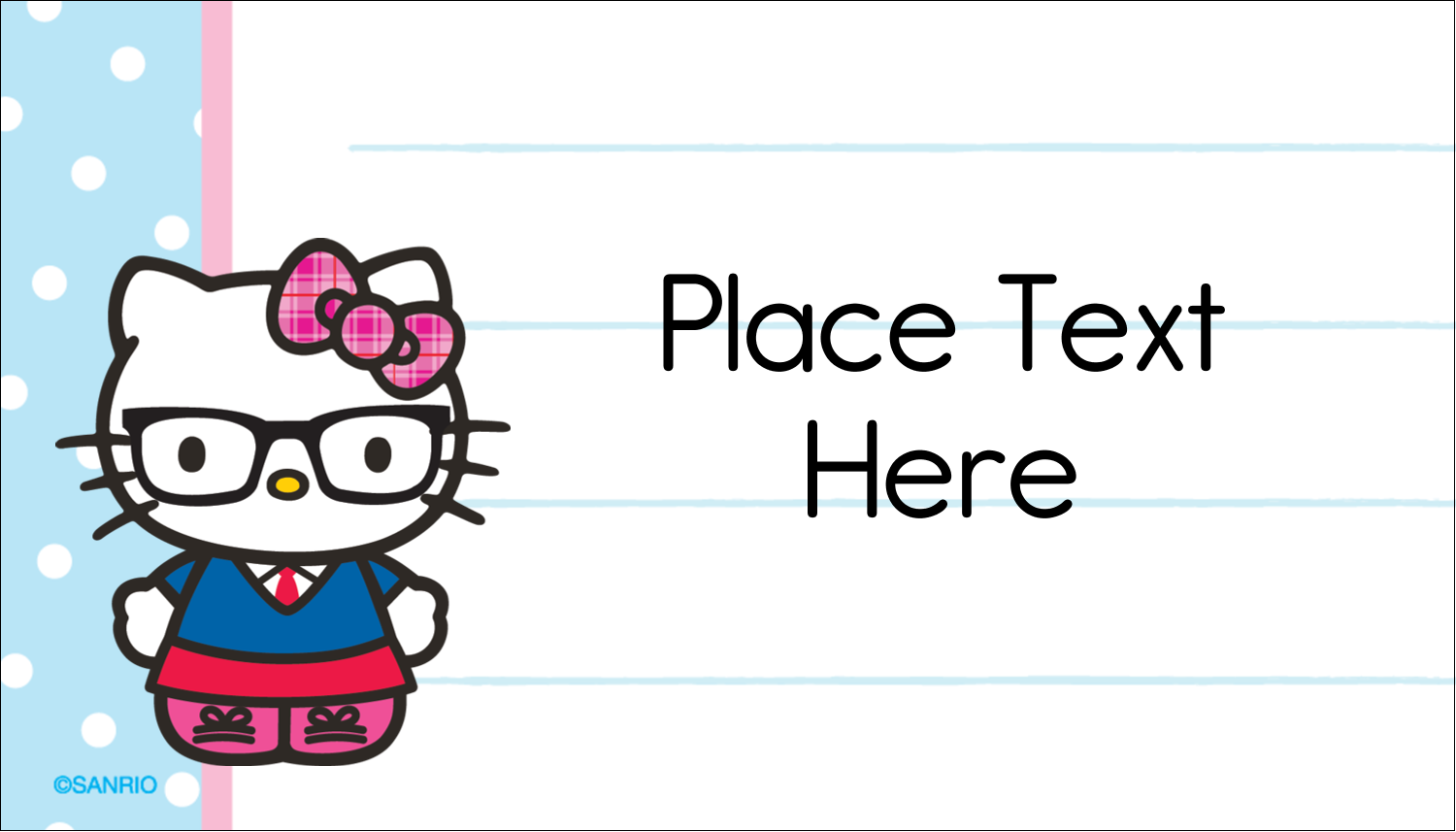 "2"" x 3½"" Business Card - Hello Kitty with Glasses"