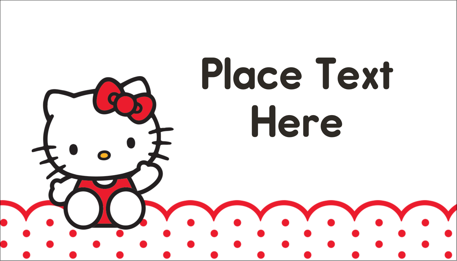 "2"" x 3½"" Business Card - Hello Kitty Waving"