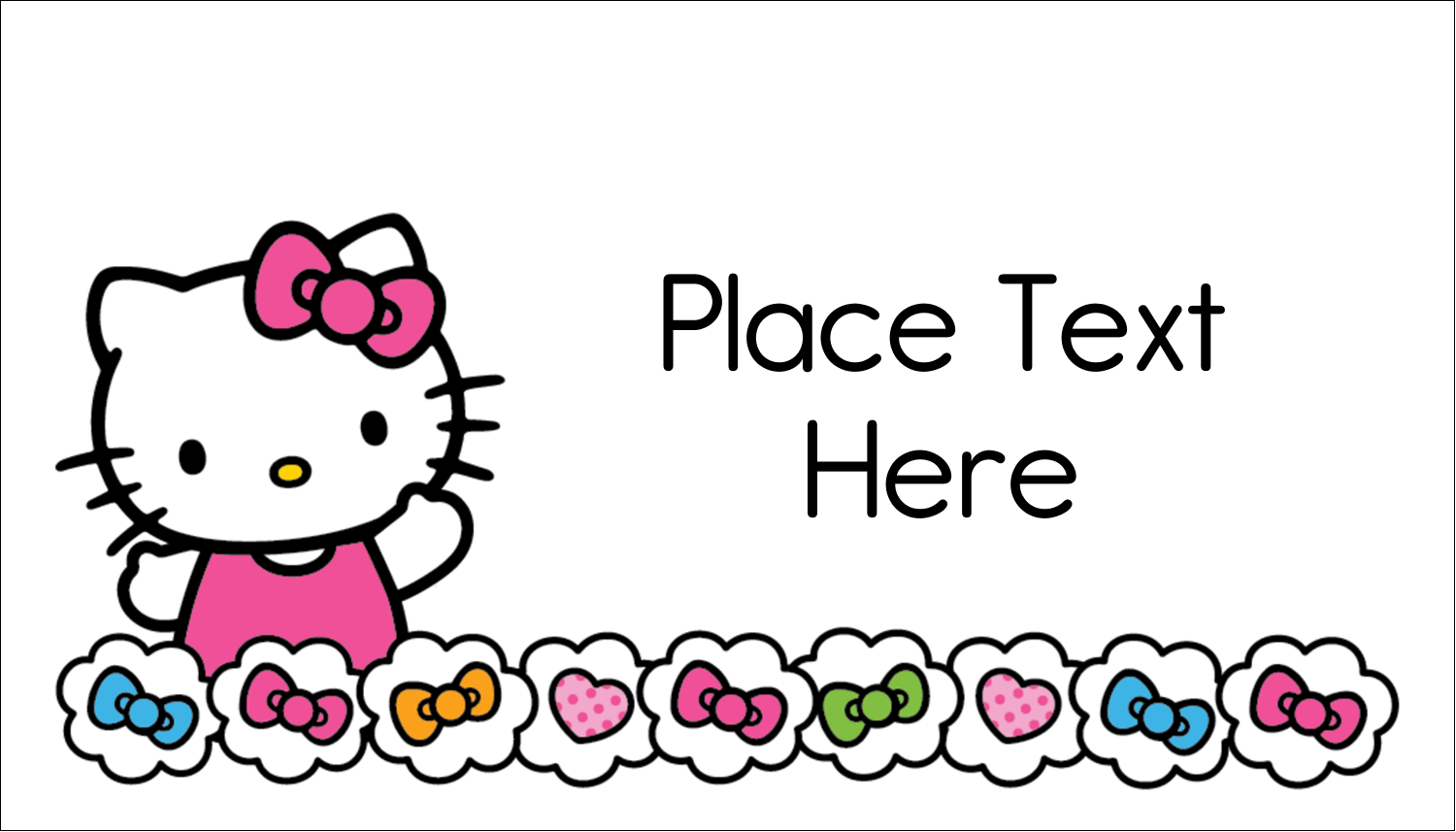"2"" x 3½"" Business Card - Hello Kitty Hearts and Bows"