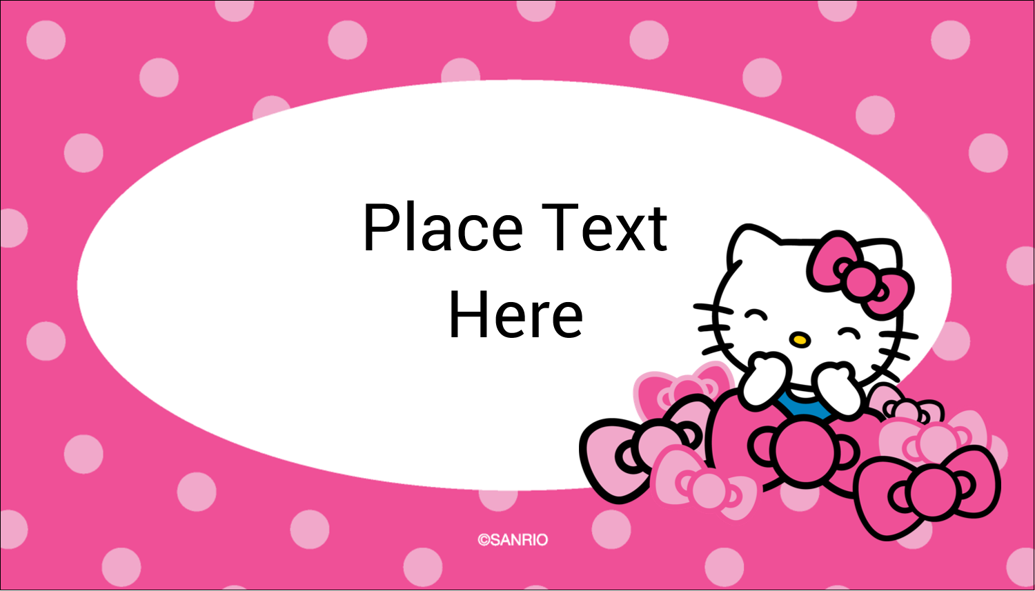 """2"""" x 3½"""" Business Card - Hello Kitty Giggles"""