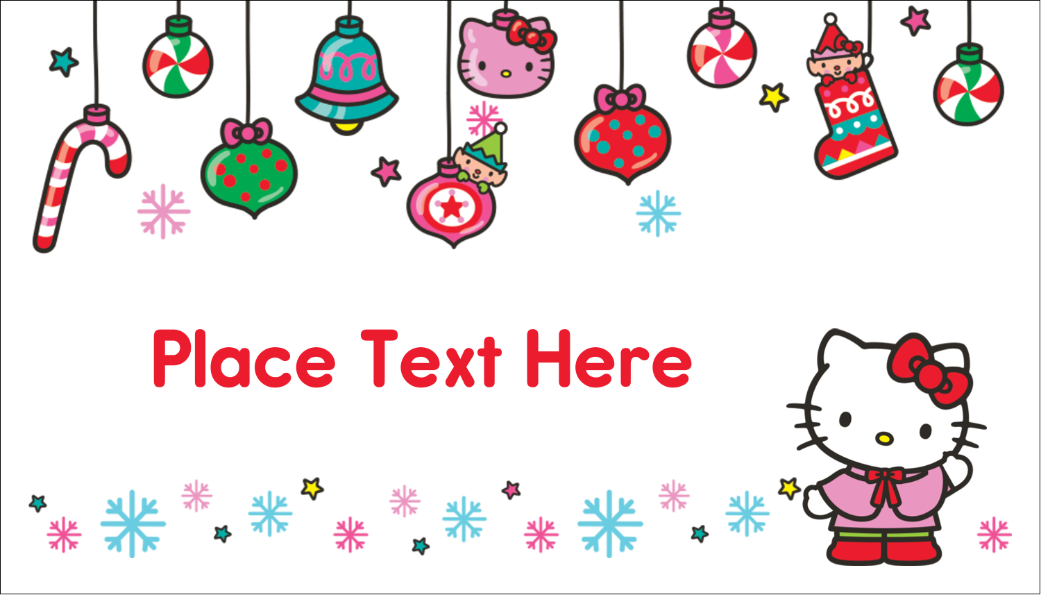 """2"""" x 3½"""" Business Card - Hello Kitty Holiday"""