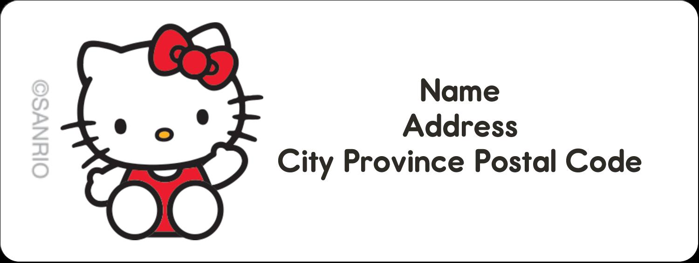 "⅔"" x 1¾"" Address Label - Hello Kitty Waving"