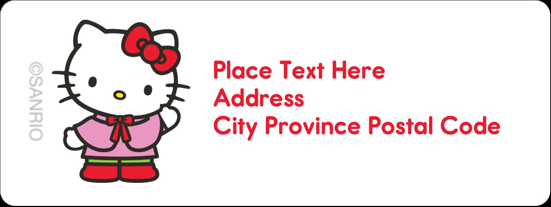 "⅔"" x 1¾"" Address Label - Hello Kitty Holiday"