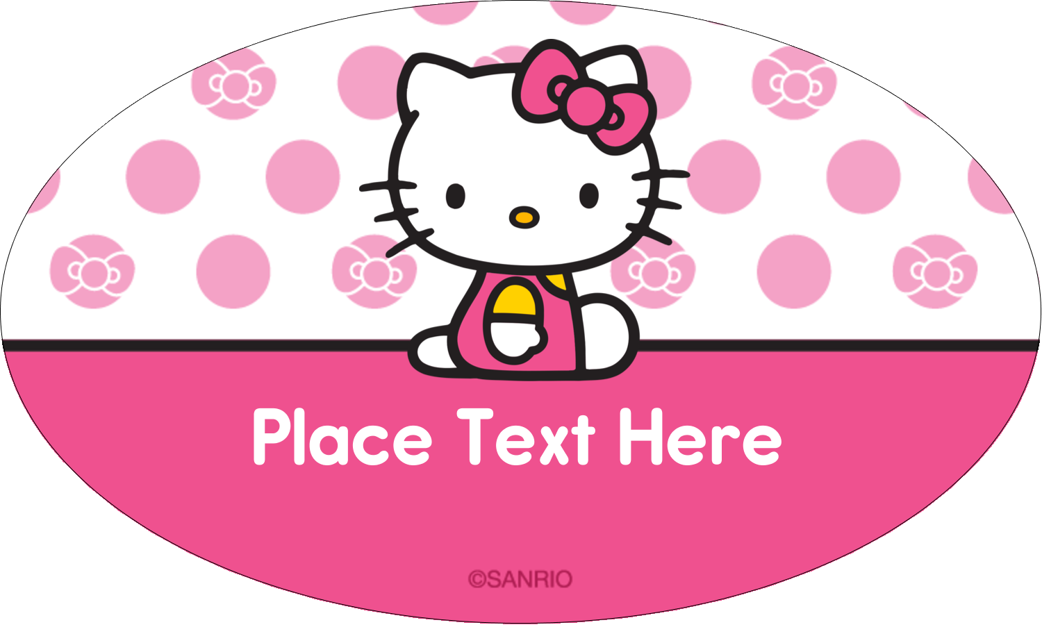 """1½"""" x 2½"""" Oval Glossy Label - Pretty in Pink"""