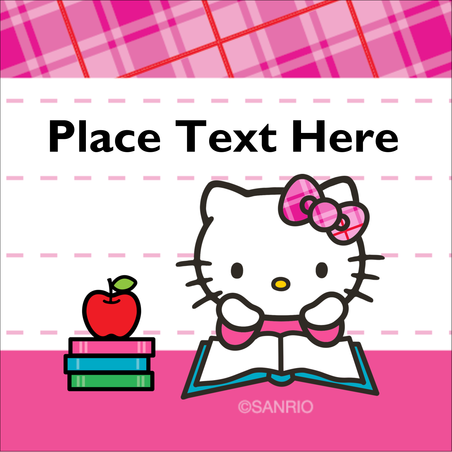"""1½"""" x 1½"""" Square Label - Time to Study"""