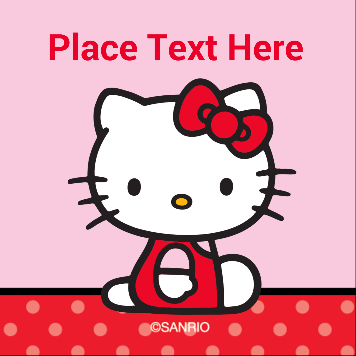 "1½"" x 1½"" Square Label - Supercute Hello Kitty"