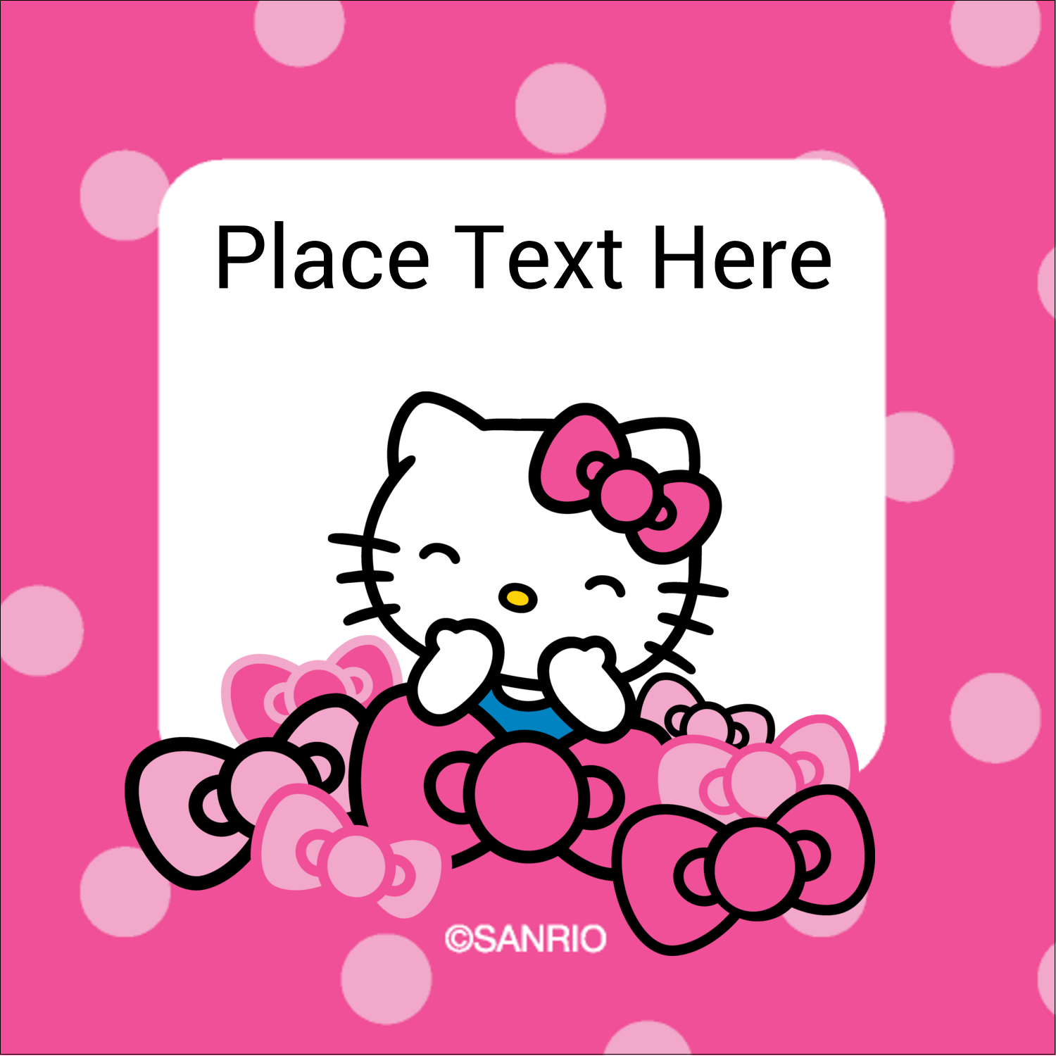 "1½"" x 1½"" Square Label - Hello Kitty Giggles"