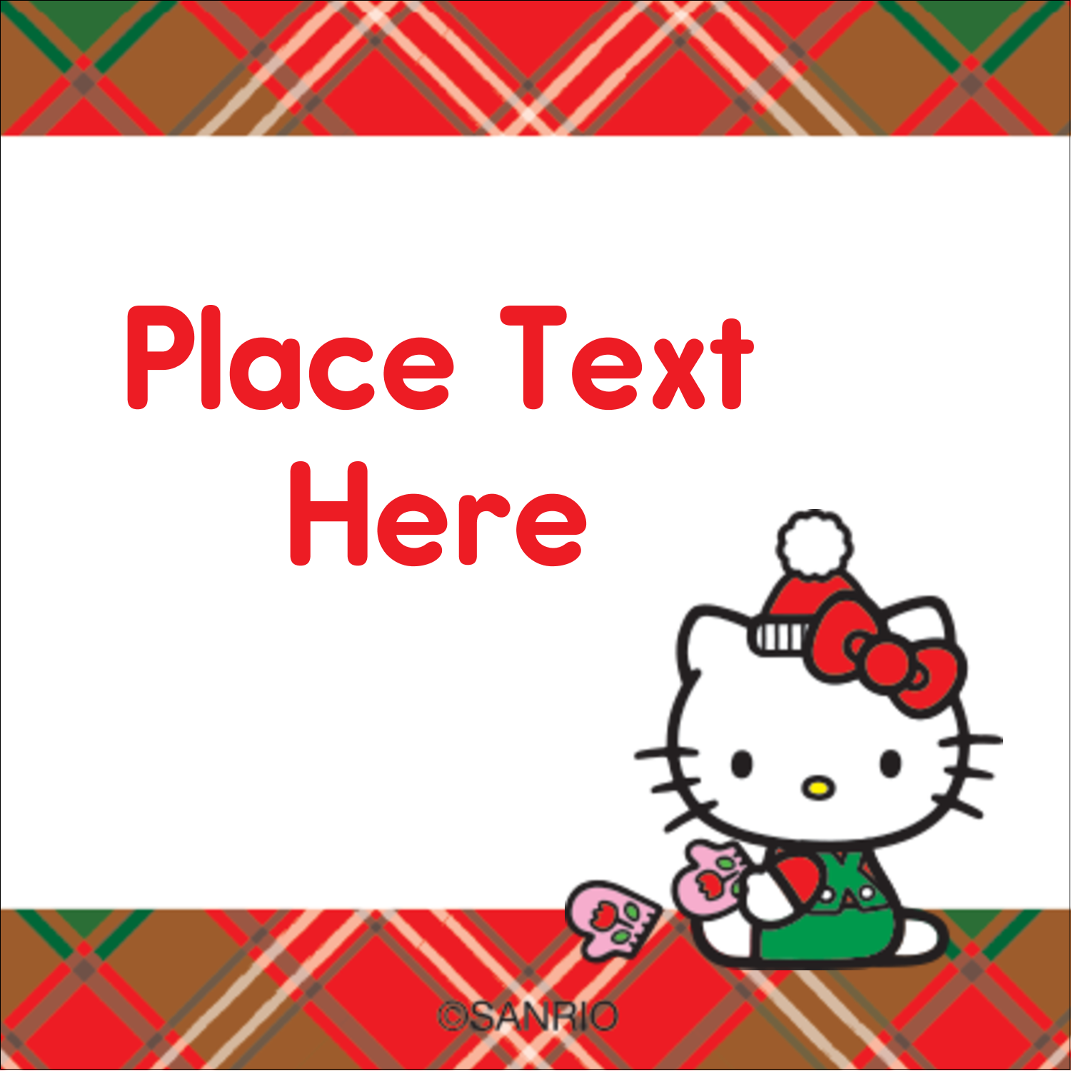 "1½"" x 1½"" Square Label - Warm Holiday Wishes"