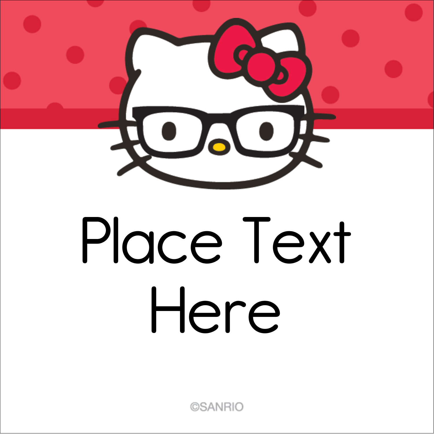 """2"""" x 2"""" Square Label - Your Friend Hello Kitty"""