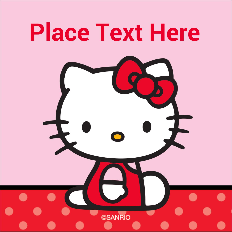 """2"""" x 2"""" Square Label - Supercute Hello Kitty"""