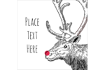 Let your custom project lead the way with pre-designed Rudolph Red Nose templates.