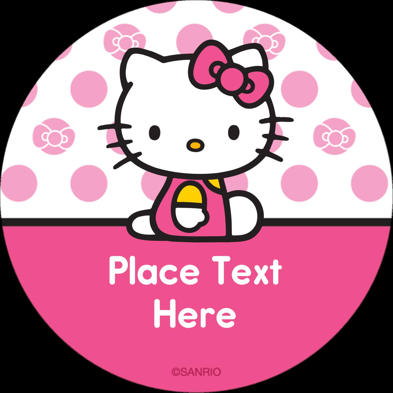 "2"" Round Label - Pretty in Pink"