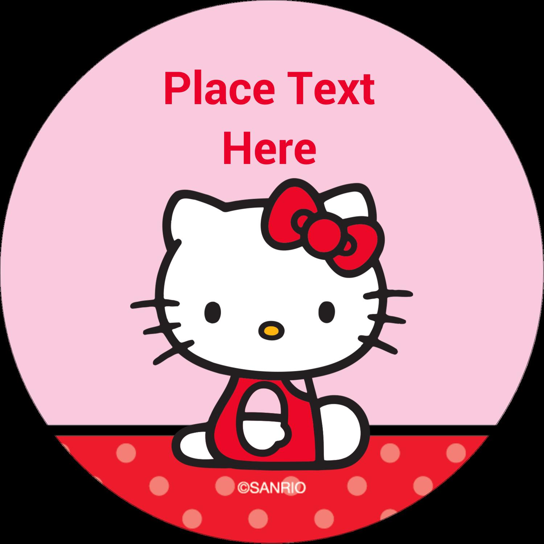 "2"" Round Label - Supercute Hello Kitty"