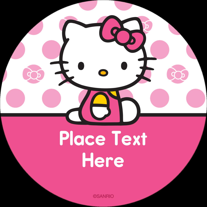 "2½"" Round Label - Pretty in Pink"