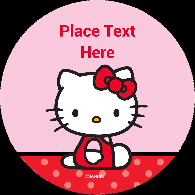 "2½"" Round Label - Supercute Hello Kitty"