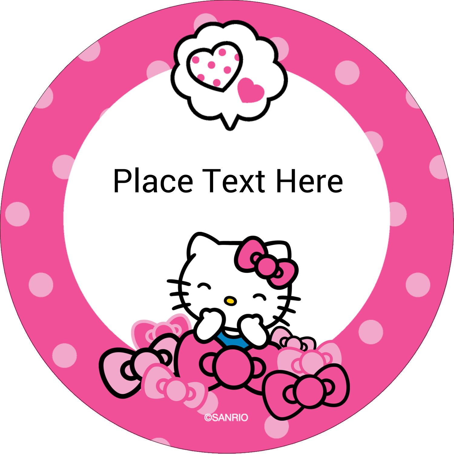 "2½"" Round Label - Hello Kitty Giggles"