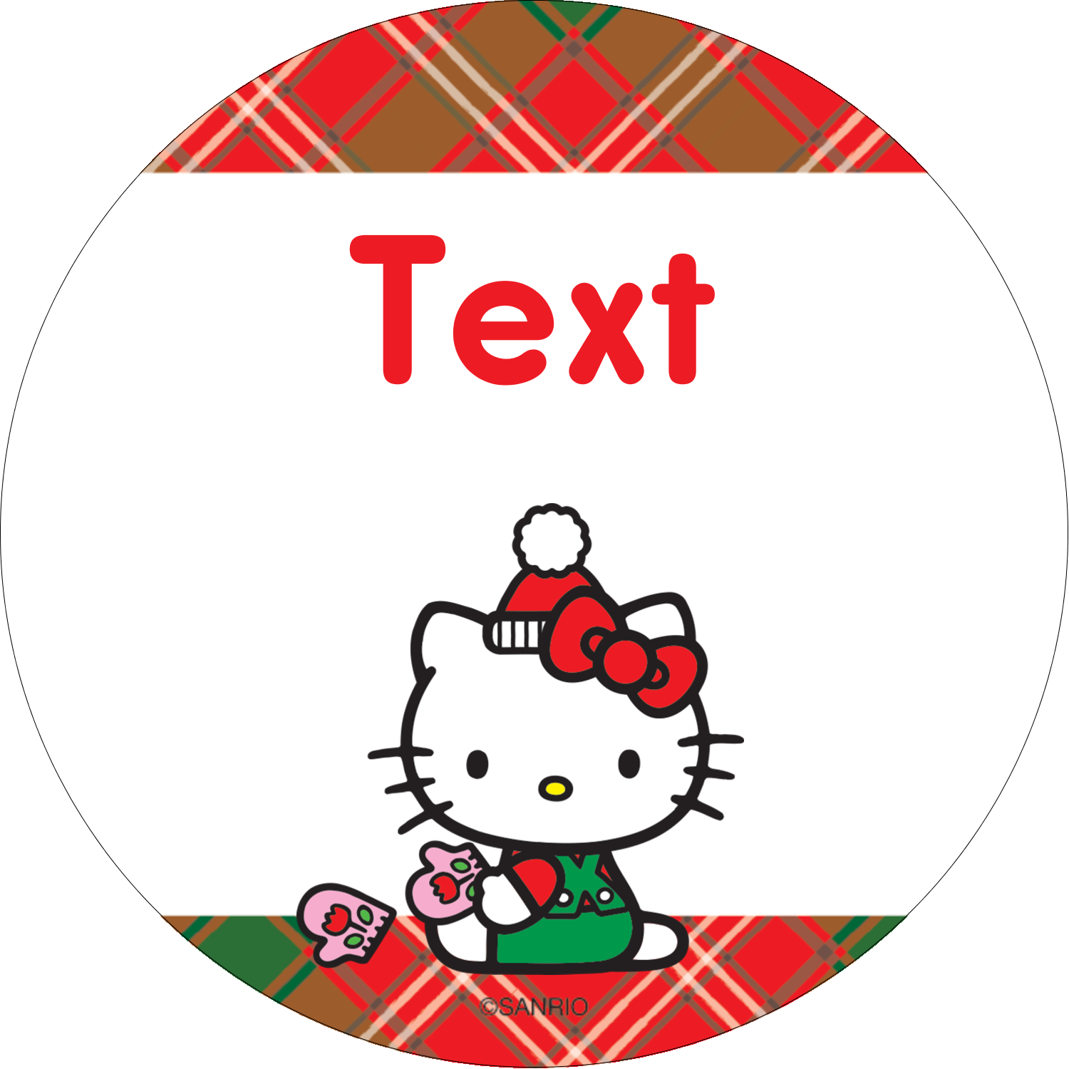 "2½"" Round Label - Warm Holiday Wishes"