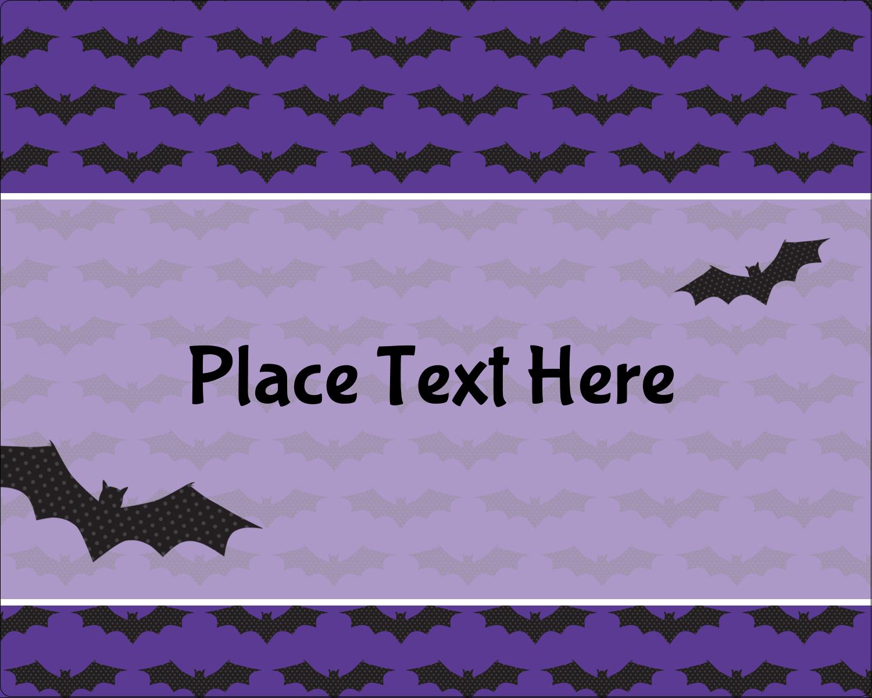 "3"" x 3¾"" Rectangular Label - Halloween Bats"