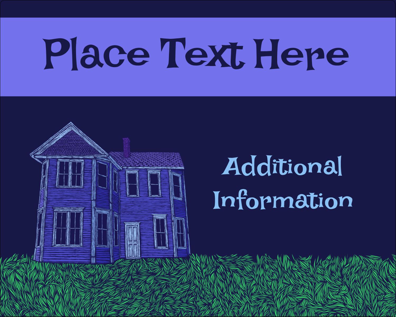 "3"" x 3¾"" Rectangular Label - Halloween Haunted House Chalk"