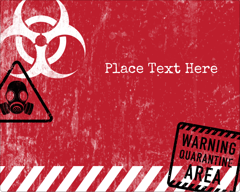 """3"""" x 3¾"""" Rectangular Label - Halloween Zombie Apocalypse"""