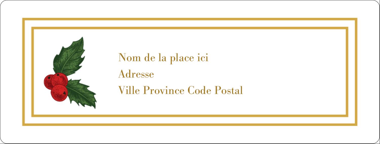 Étiquettes d'adresse - gabarit prédéfini. <br/>Utilisez notre logiciel Avery Design & Print Online pour personnaliser facilement la conception.