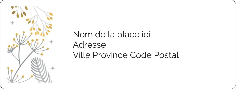 Argent et or Étiquettes d'adresse - gabarit prédéfini. <br/>Utilisez notre logiciel Avery Design & Print Online pour personnaliser facilement la conception.