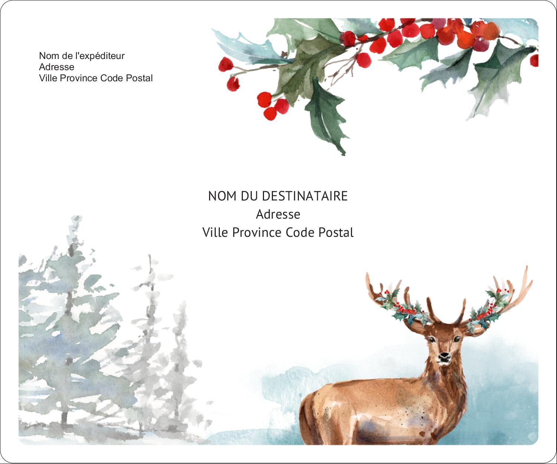 Hiver boisé Étiquettes d'expédition - gabarit prédéfini. <br/>Utilisez notre logiciel Avery Design & Print Online pour personnaliser facilement la conception.