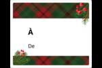 Tartan chaleureux Étiquettes d'expédition - gabarit prédéfini. <br/>Utilisez notre logiciel Avery Design & Print Online pour personnaliser facilement la conception.