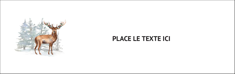 Hiver boisé Affichette - gabarit prédéfini. <br/>Utilisez notre logiciel Avery Design & Print Online pour personnaliser facilement la conception.