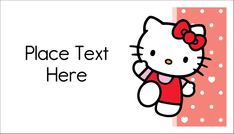 "2"" x 3½"" Business Card - We love Hello Kitty"