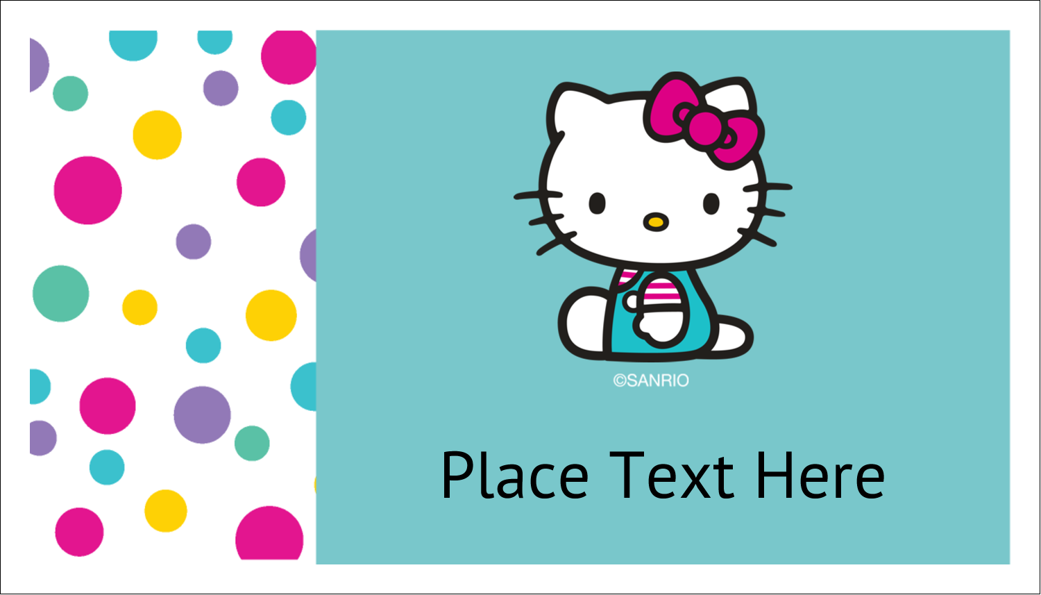 """2"""" x 3½"""" Business Card - Hello Kitty Party"""