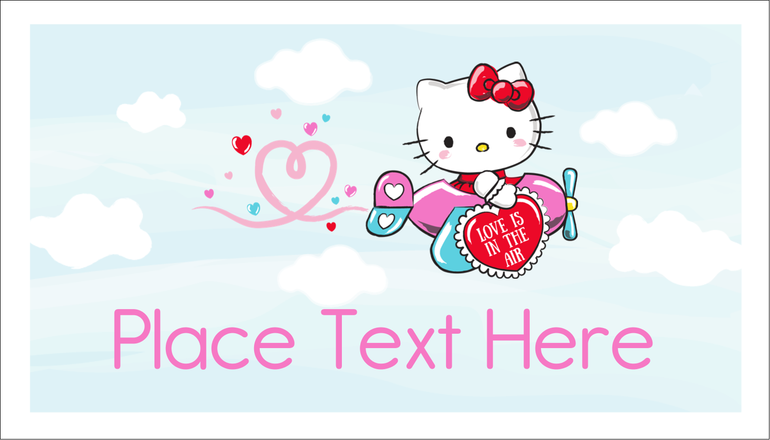 "2"" x 3½"" Business Card - Hello Kitty Valentine - You Make My Heart Soar"