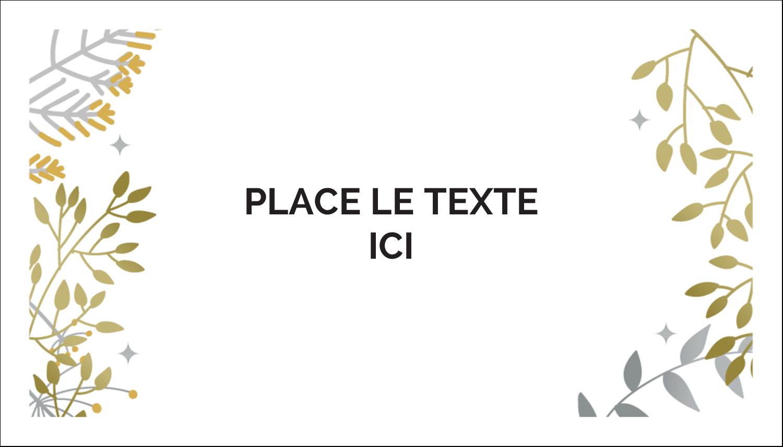 """2"""" x 3½"""" Cartes d'affaires - Argent et or"""